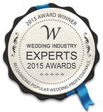 winner of the wedding industry experts 2015 awards best wedding photographer for Essex badge