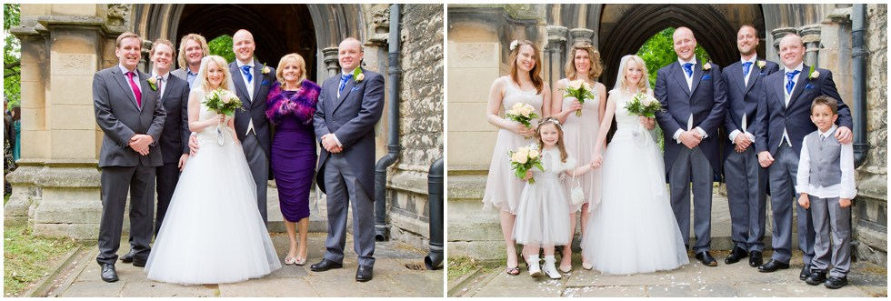 Formal group wedding photography St Nicholas Church Chiswick London