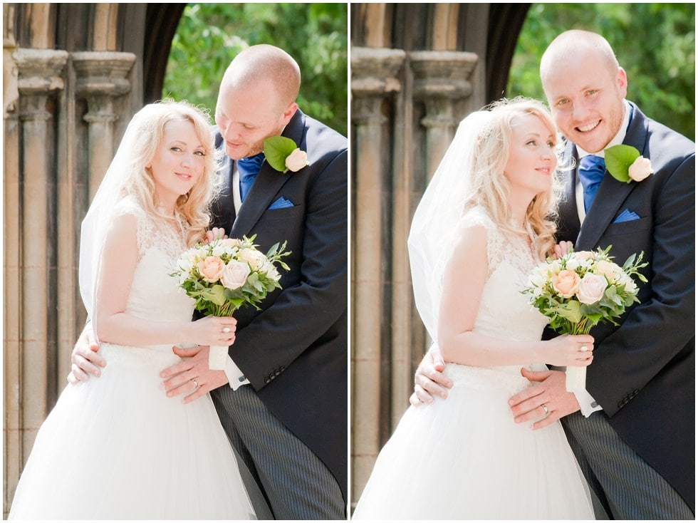 Couple Wedding Shots St Nicholas Church Chiswick London