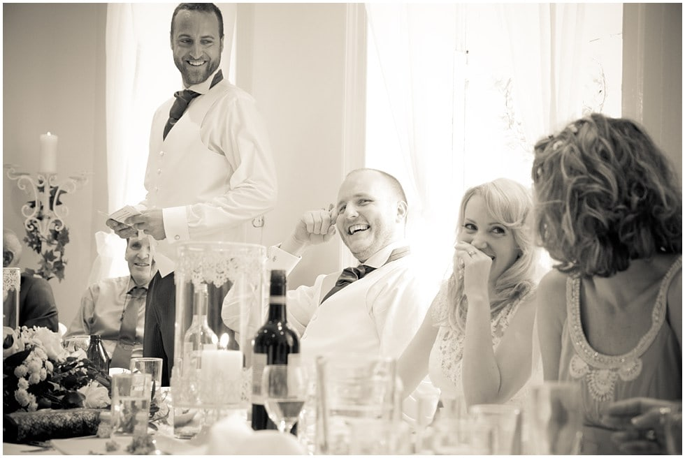 The speeches laughter and joy! Wedding Photography at Linden House Hammersmith