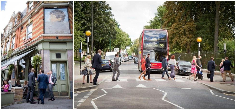 London Zebra crossing at herne hill wedding