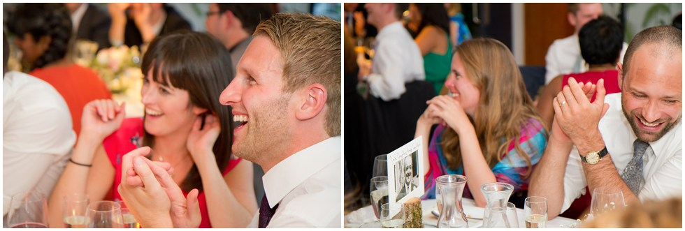 Lots of laughter at the wedding speeches in London