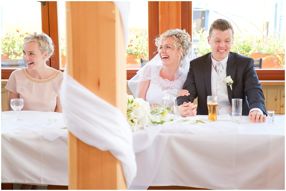 The bride and groom unobstrusive wedding photography capturing the precious moments
