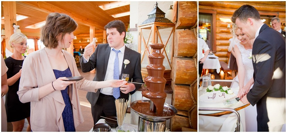 Chocolate fondue oh yes!