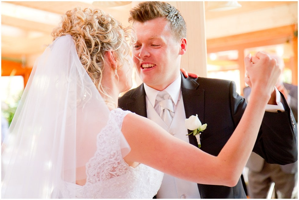The stunning bride and groom's first dance Winston Sanders Wedding Photography