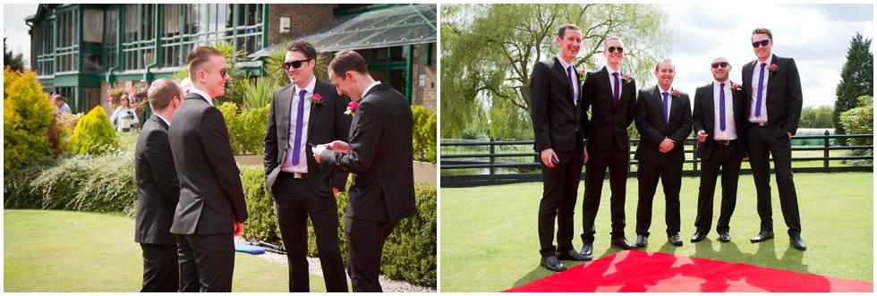 The groomsmen looking cool