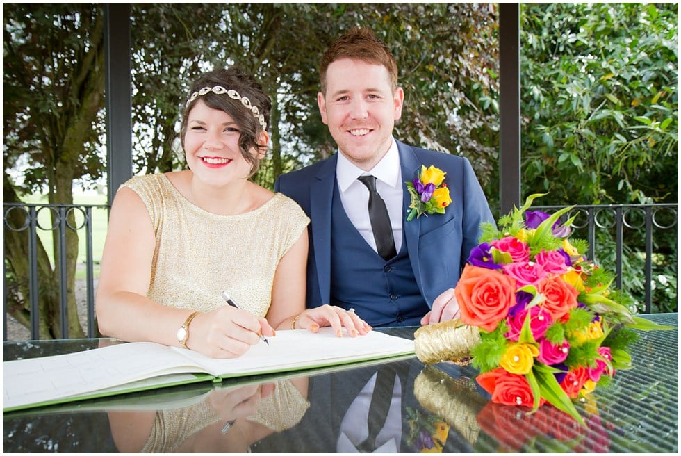 luanna and callum having signed the deeds for their wedding
