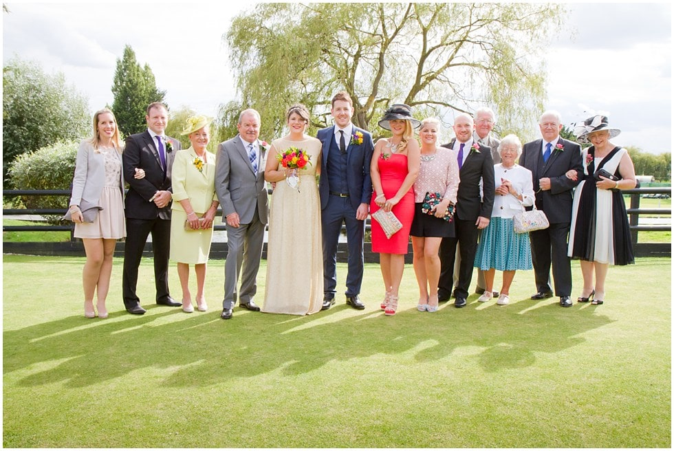family wedding photograph the three rivers golf and country essex