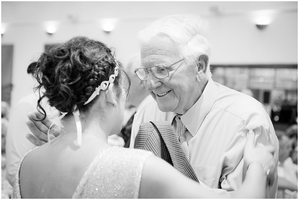 gorgeous photo of grandad and grandaughter at her wedding in essex winston sanders photography