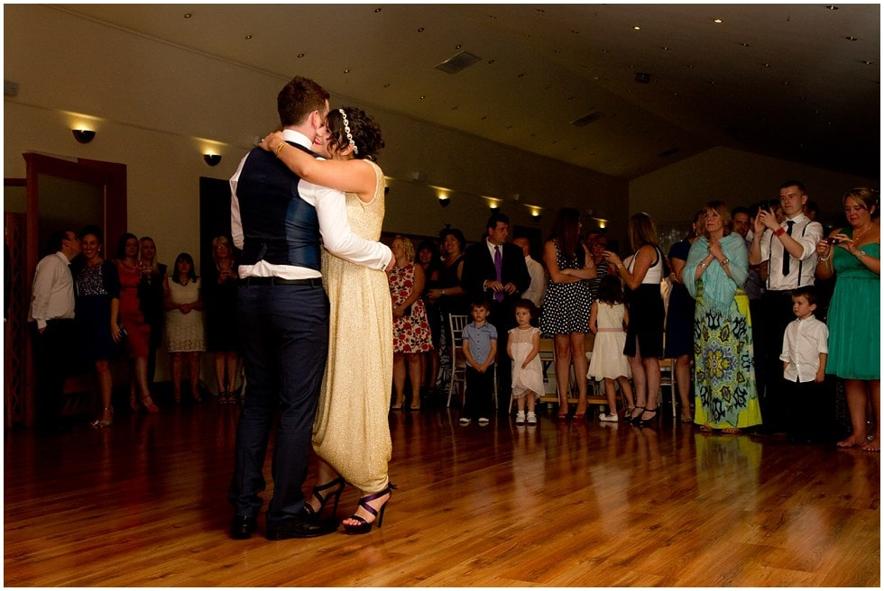 the first dance the three rivers golf and country club cold norton wedding