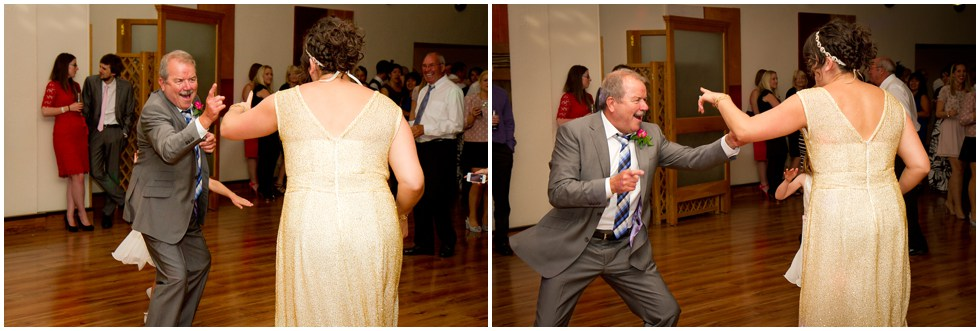 father and bride ripping it up on the dance floor
