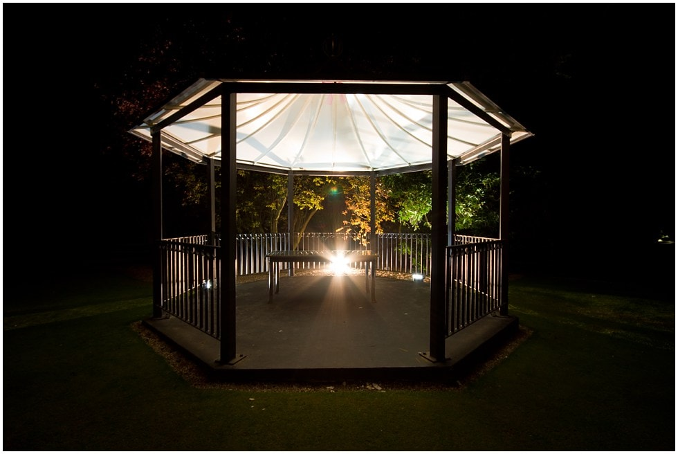Bandstand at three rivers golf and country club cold norton chelmsford essex wedding photographer
