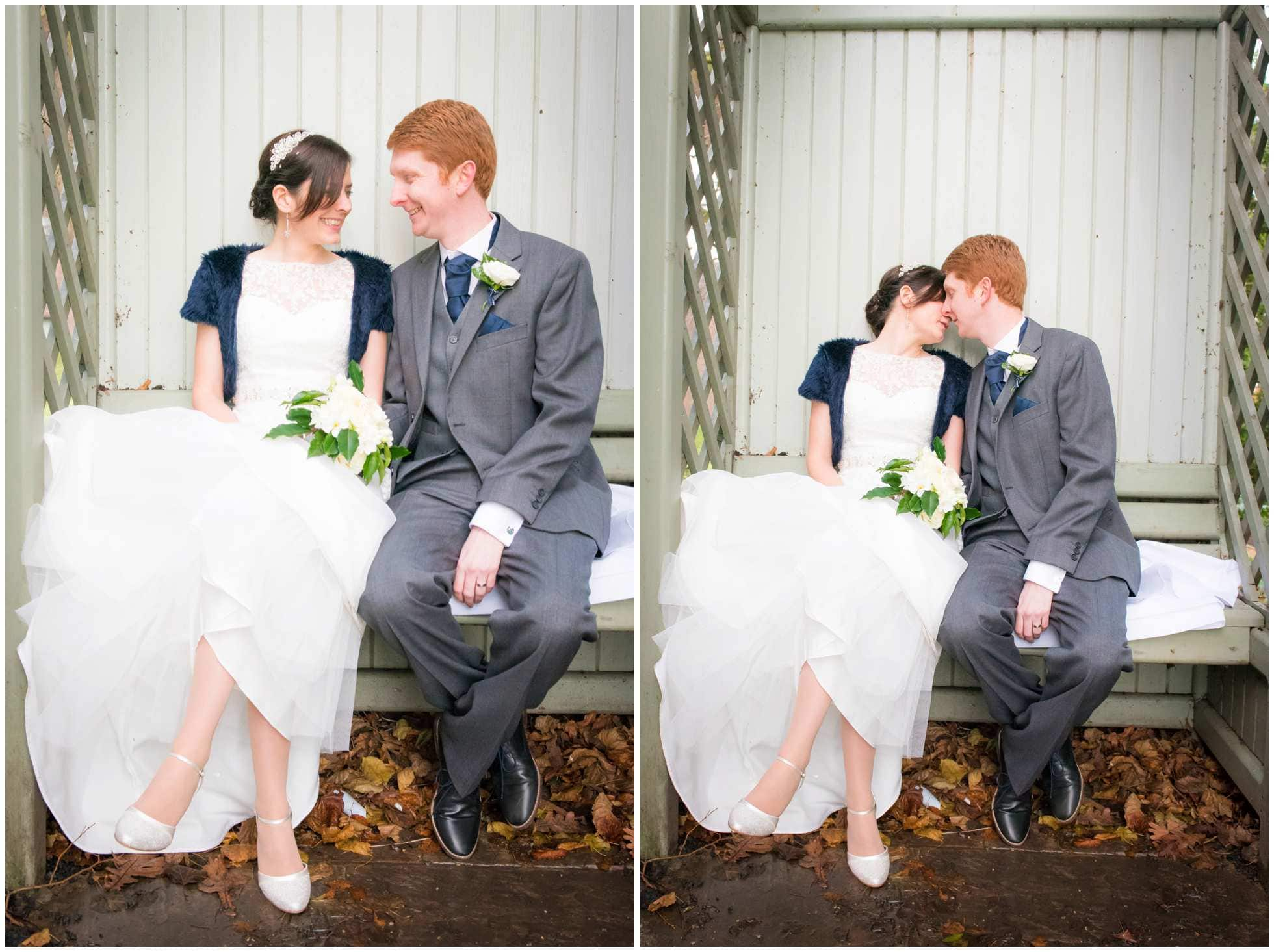 Bride and groom looking hot Marriott Hotel York Wedding Photography