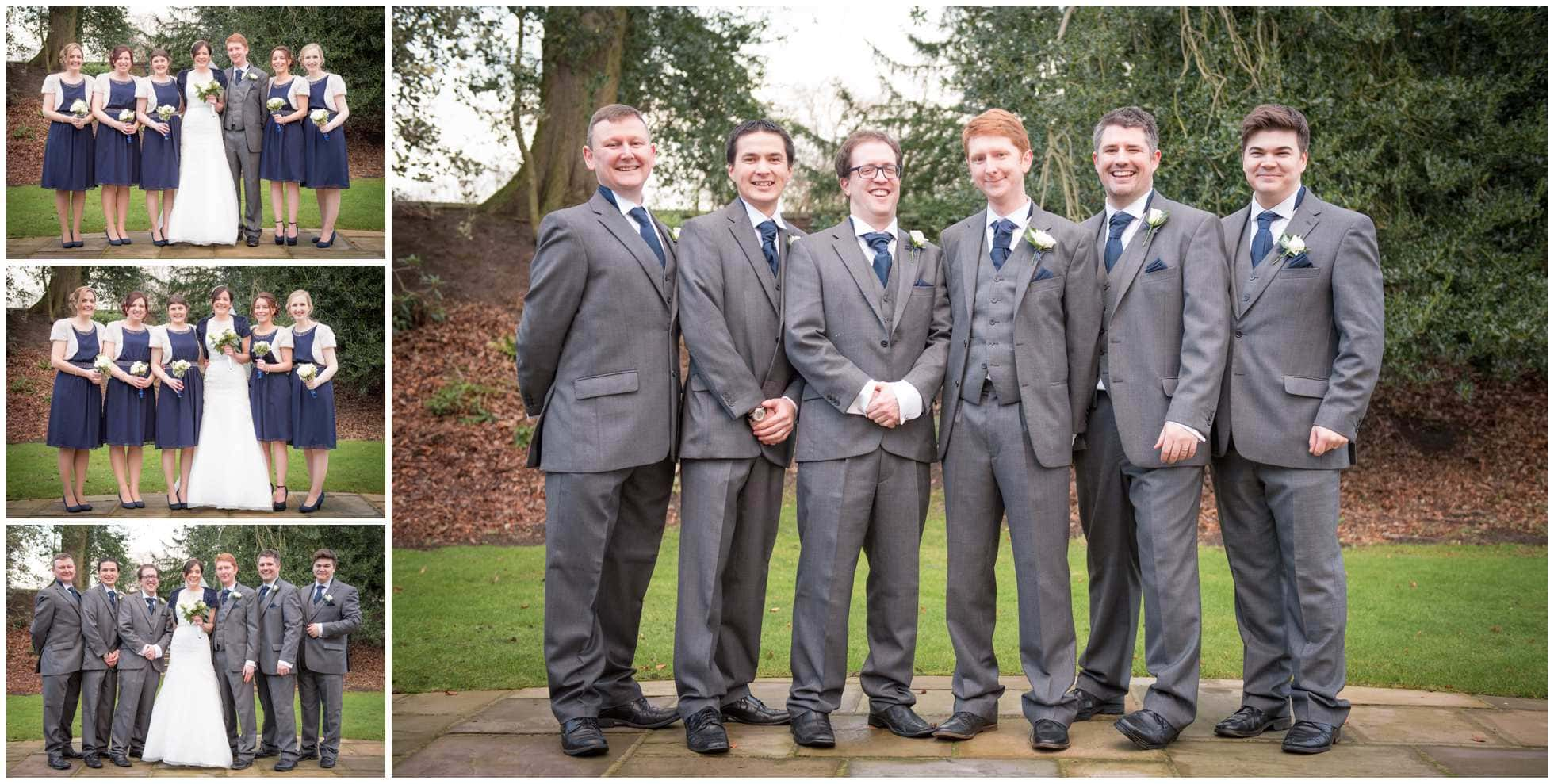The groom and his groomsmen Marriott Hotel York Wedding Photography