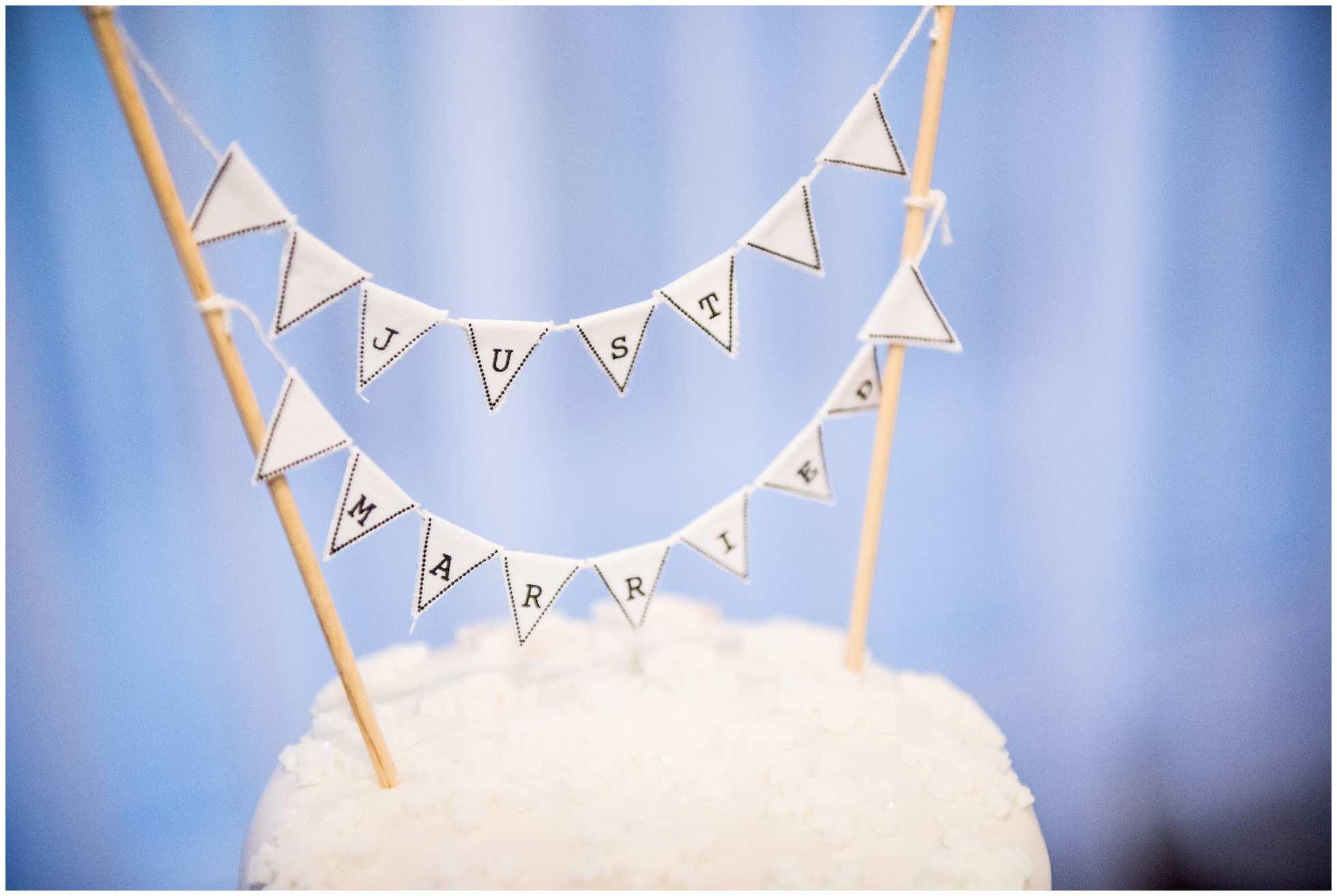 The wedding cake Marriott Hotel York Wedding Photography