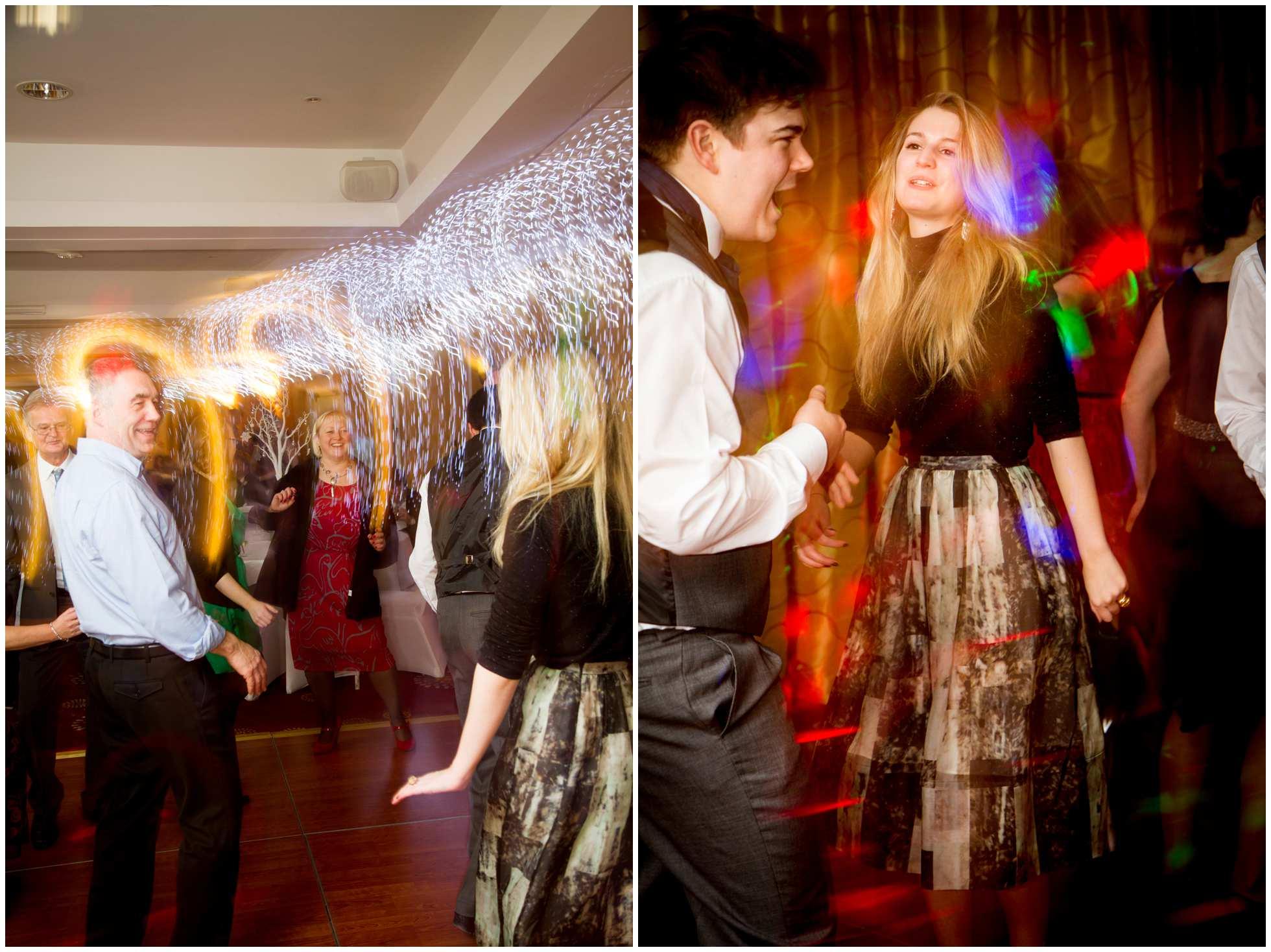Long expose with flash dance floor shots