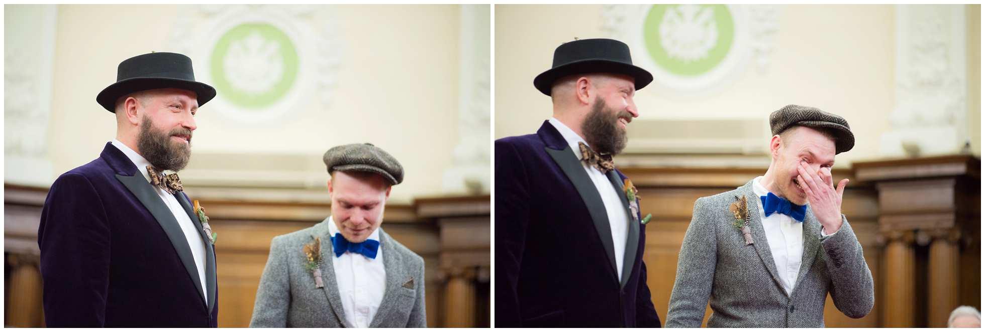 yet more tears gay wedding photography islington town hall