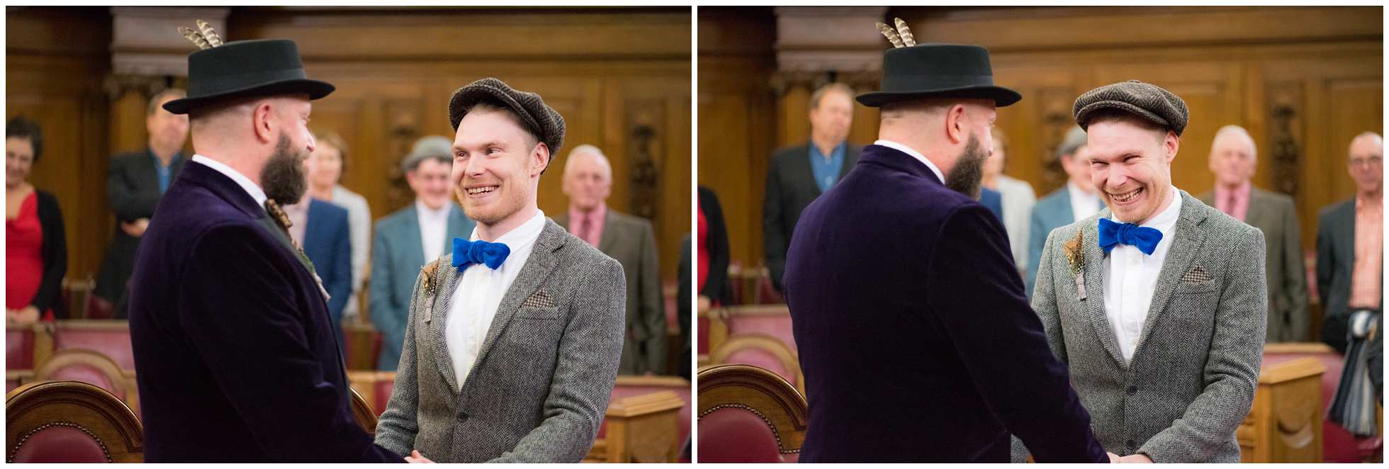 Laugher and giggles at this awesome gay wedding