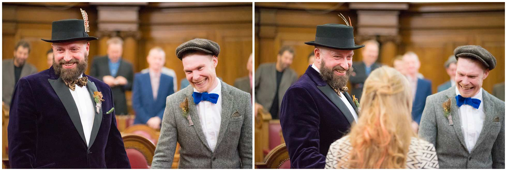 Laughter at the wedding of the year