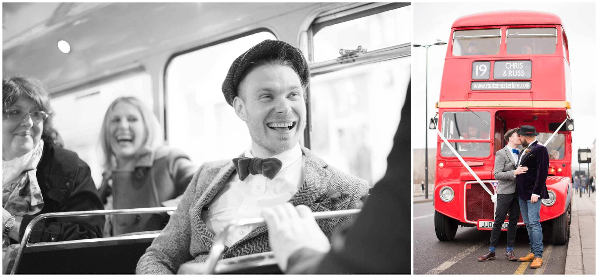 Routemaster bus london wedding photography