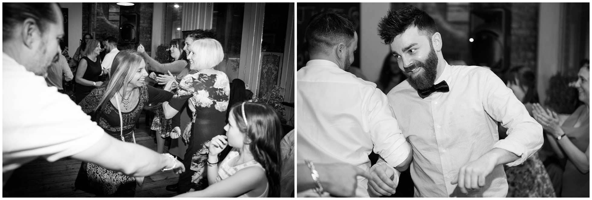 ceilidh dancing at the star london wedding photography