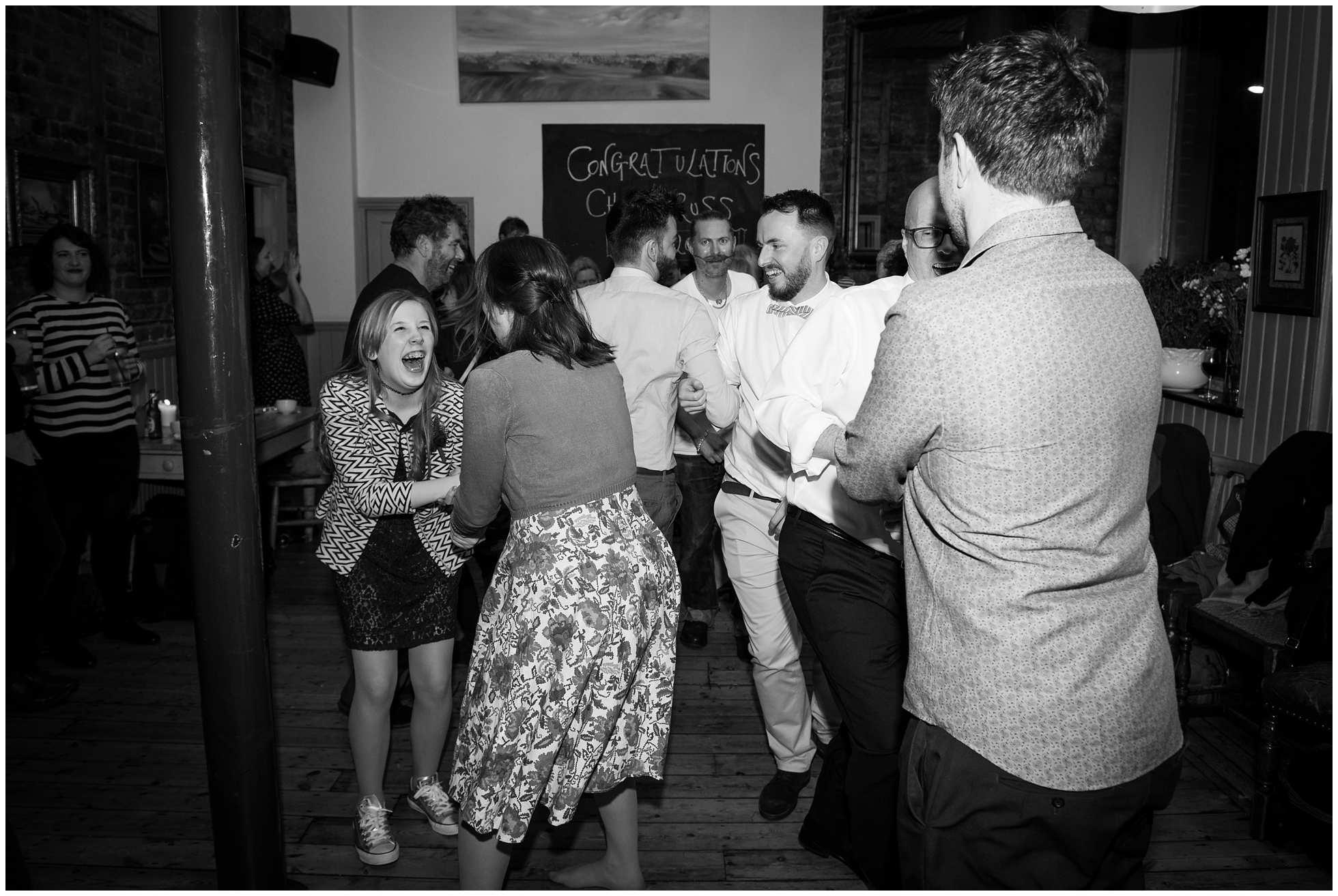 Happy fun times wedding reception