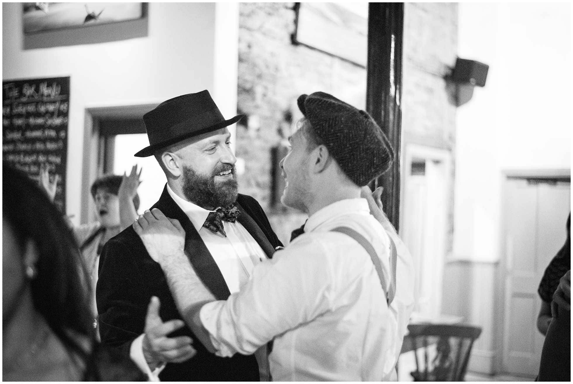 Two happy grooms happily married