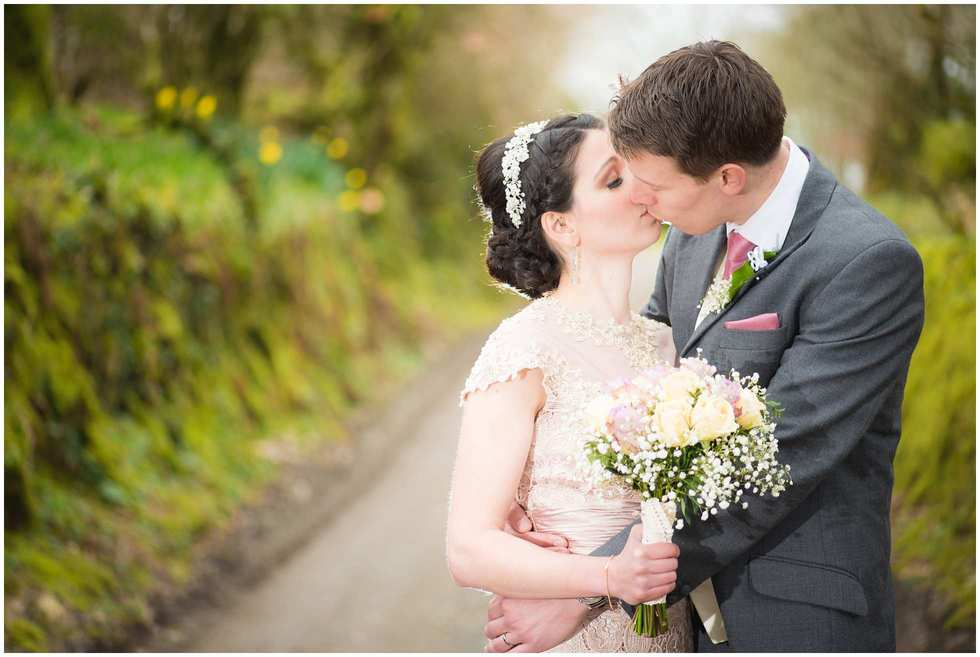Beautiful bride and groom completely and utterly in love at trevena st neot Cornwall wedding photography awesomeness