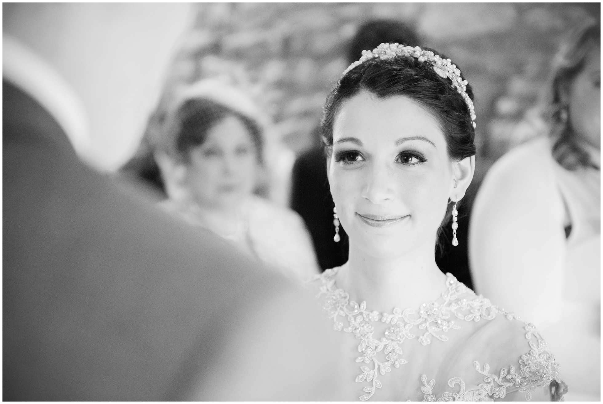 Bride at the alter looking stunning Trevena Wedding Photography in Cornwall