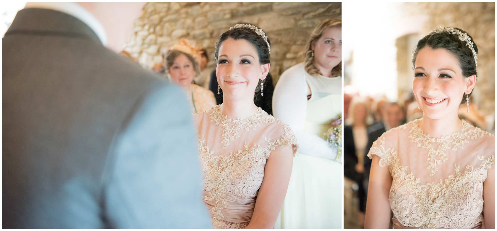Bride glowing with happiness at Trevena Wedding Photography in Cornwall