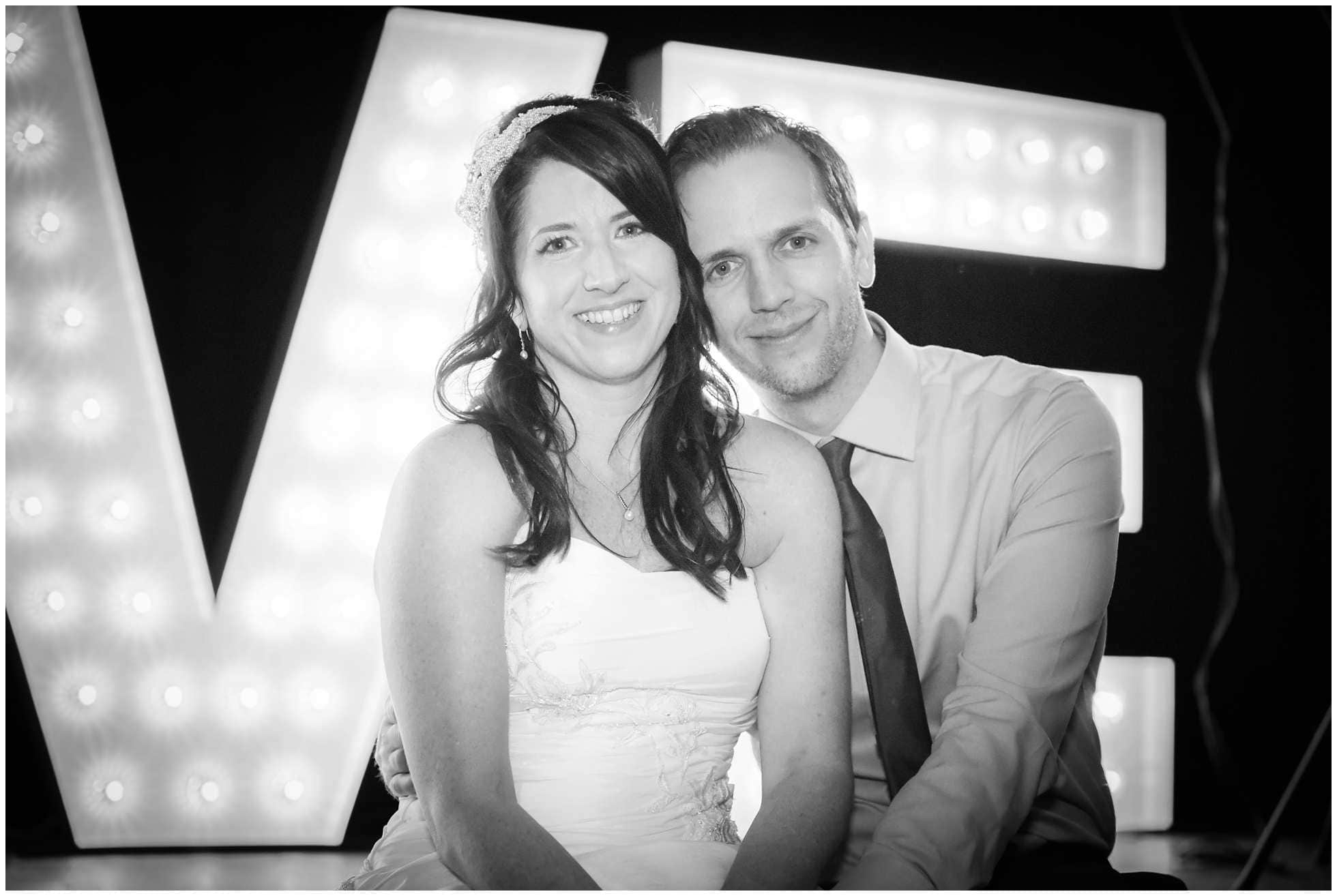 Black and white beverley wedding photography shot of Claire and Michael