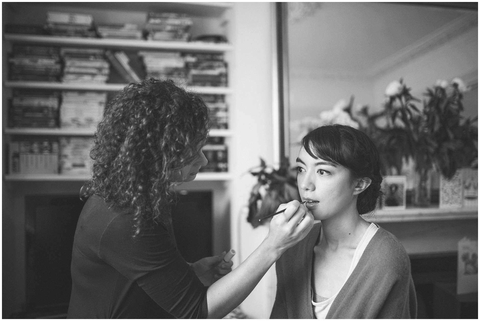 Bride and make up artist in Peckham