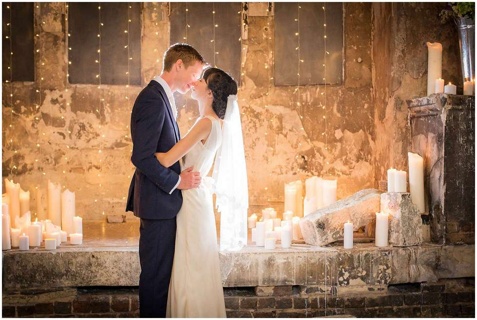 The newly weds after their wedding at the Asylum Chapel, Peckham by Winston Sanders London Wedding Photographer
