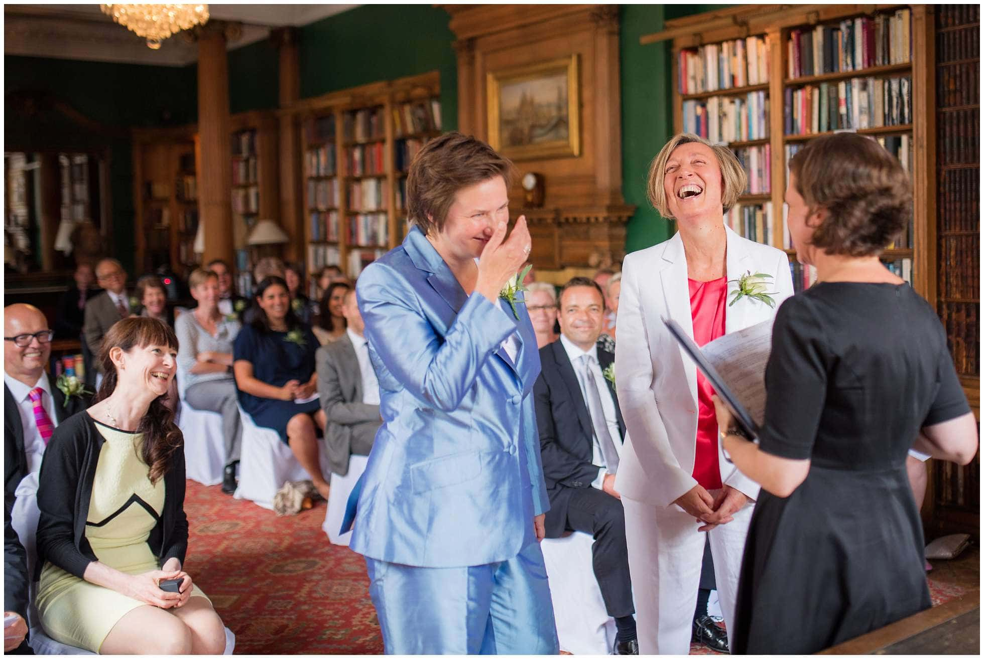 Laughter during the ceremony