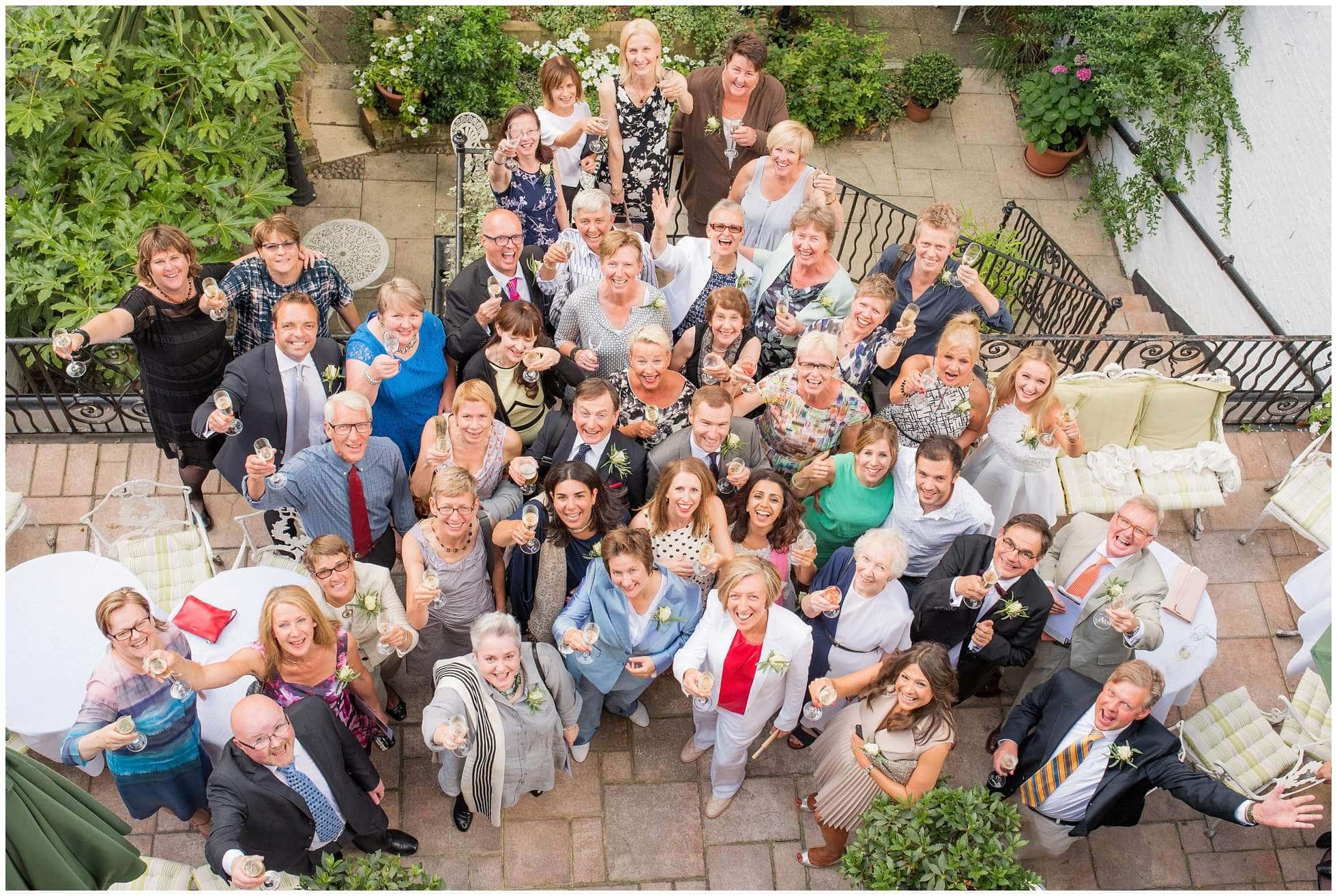 Huge group shot at University Women's Club, Mayfair, London