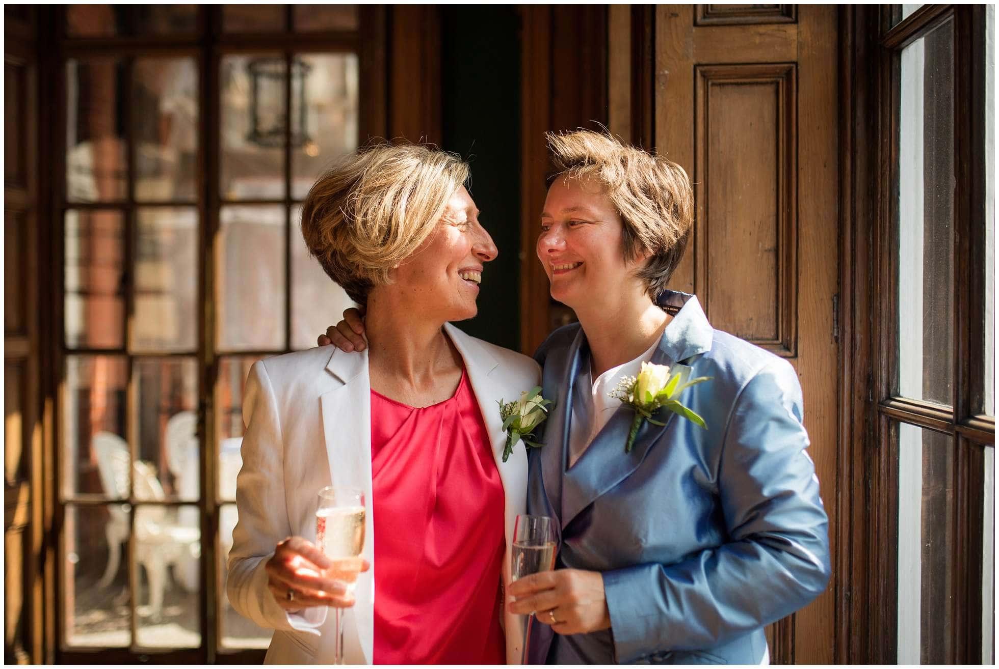 University Women's Club lovely lesbian wedding