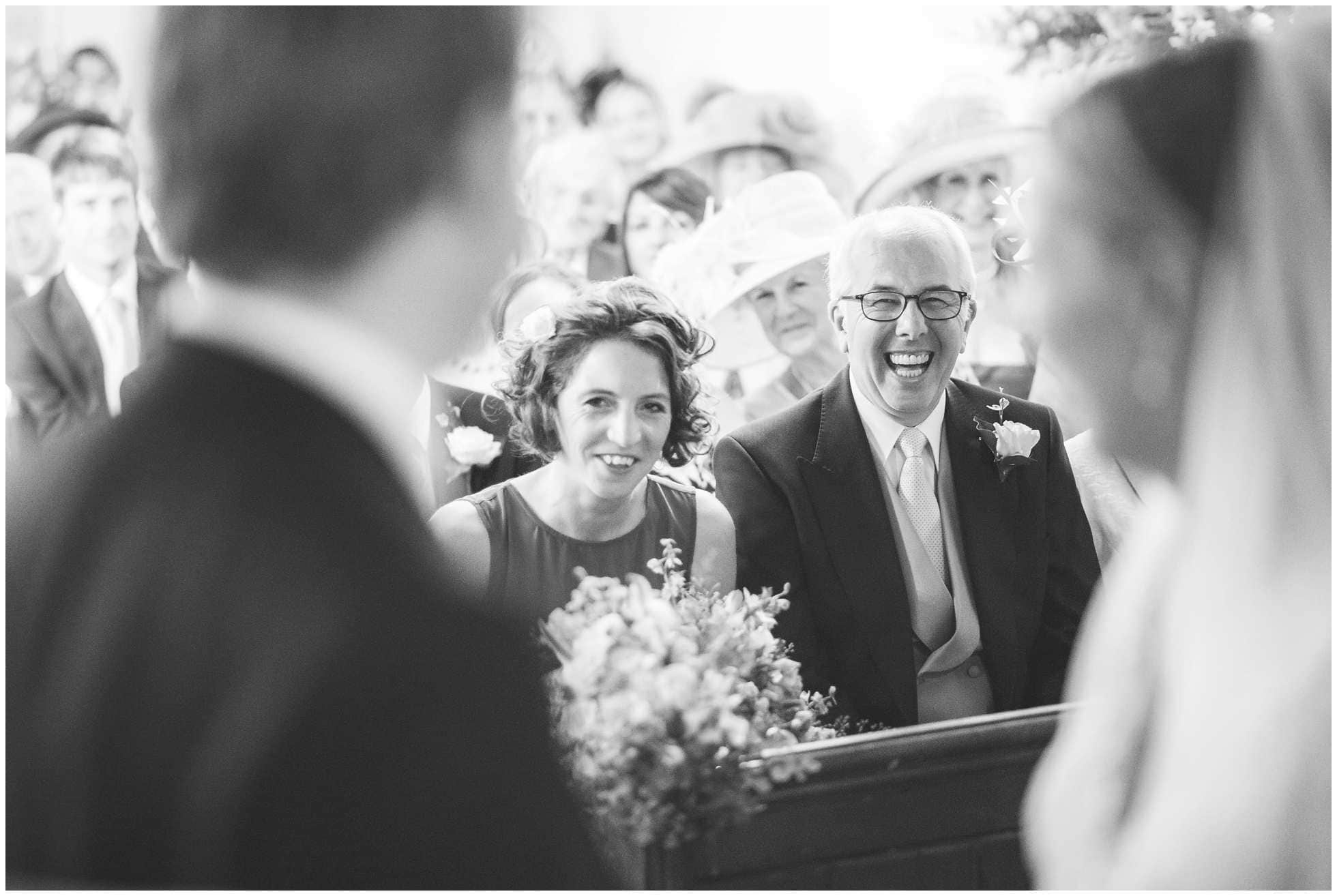 Laughter at Ranby church wedding