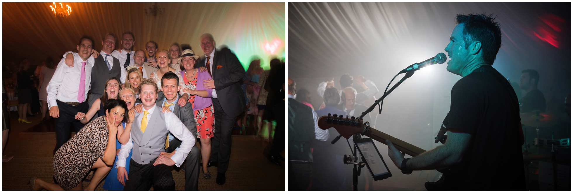 The hat band doing what they do best - rocking a Lincolnshire wedding!
