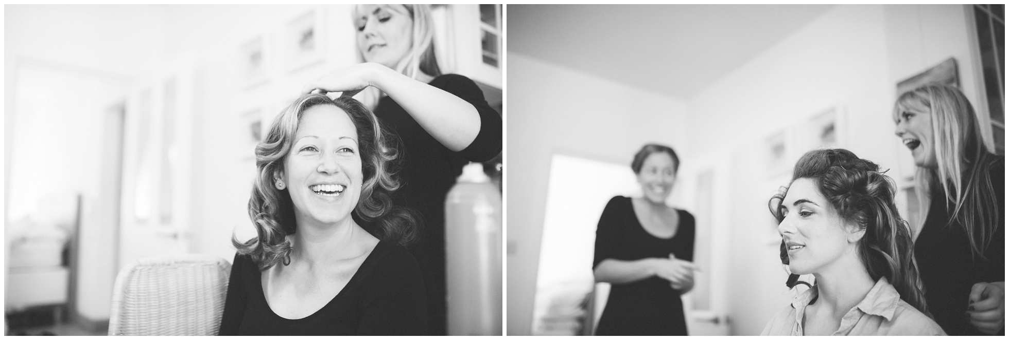 Bridesmaids getting ready and having fun in Oxford
