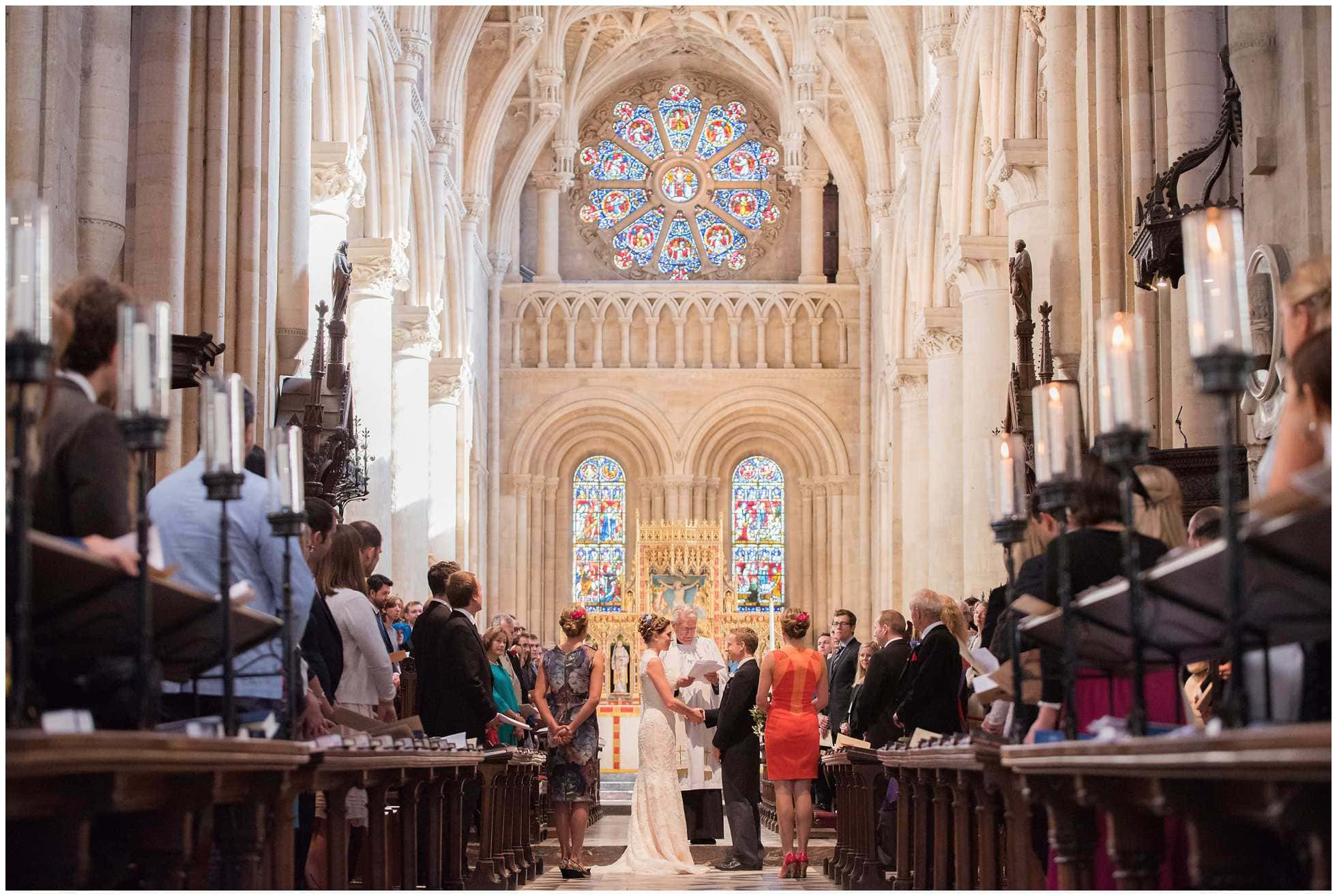 Christ Church College Cathedral Wedding bride and groom getting wed