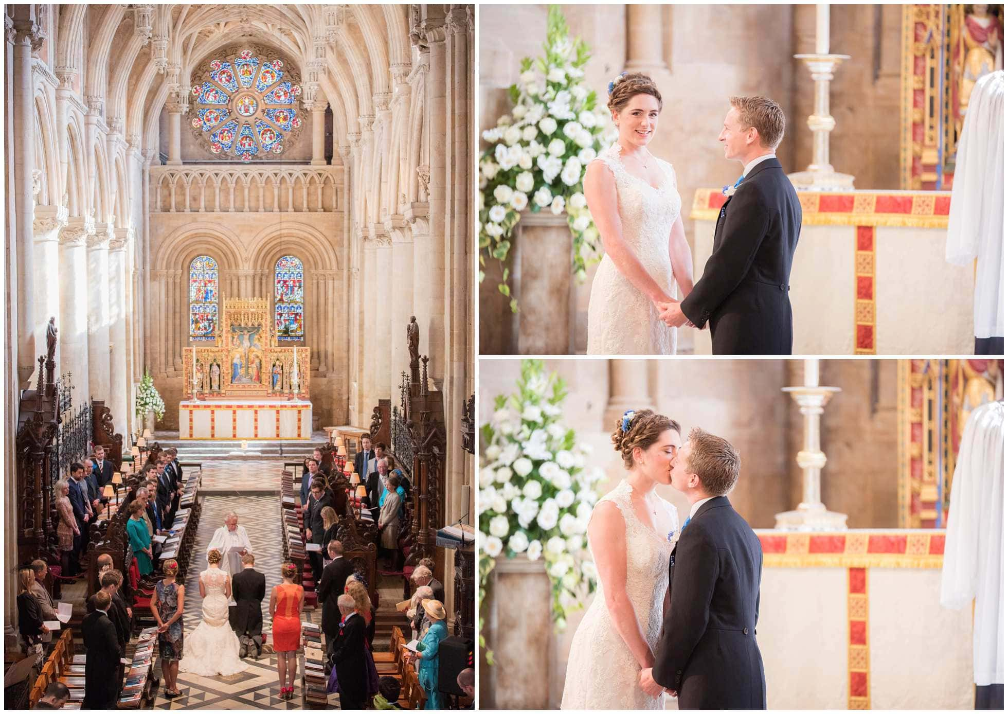 montage of shots at Christ Church College Cathedral Wedding