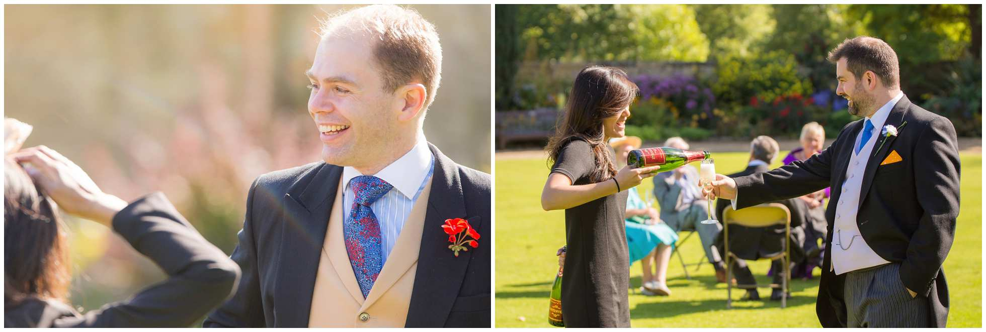 Happy guests at a Christ Church College Wedding Photographers dream wedding
