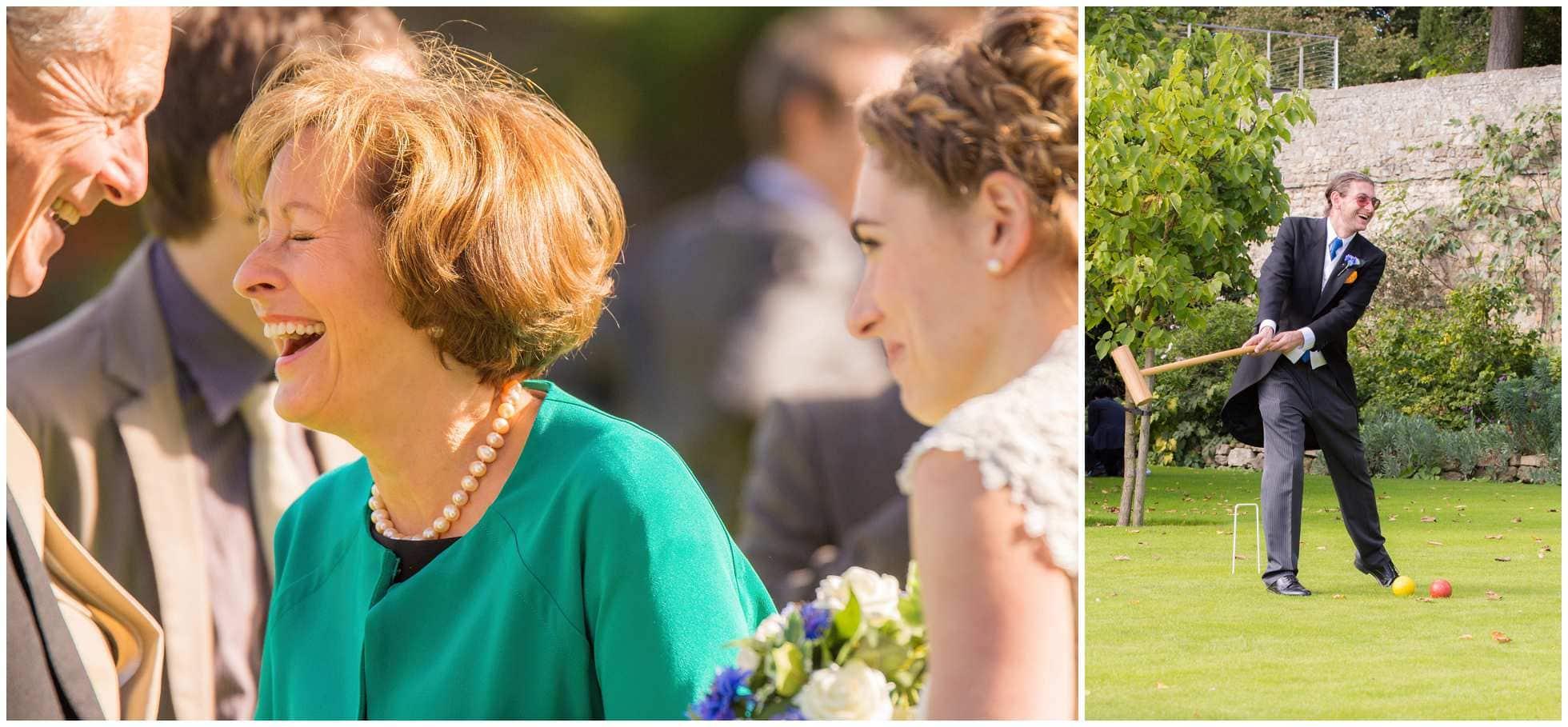 Croquet at a Christ Church College Wedding Photographer's dream wedding