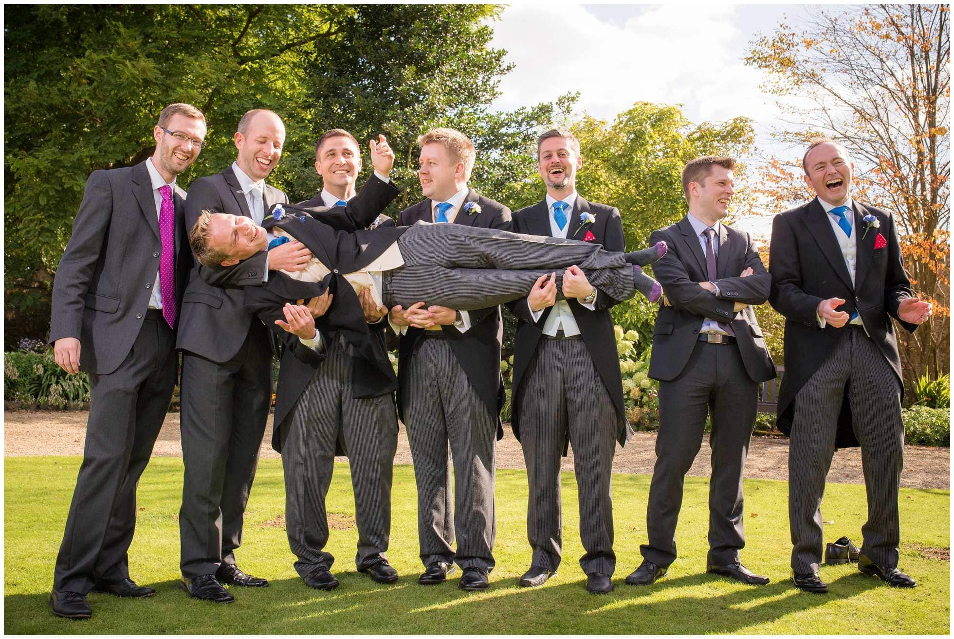 Christ Church College grads doing what they do best at a wedding!