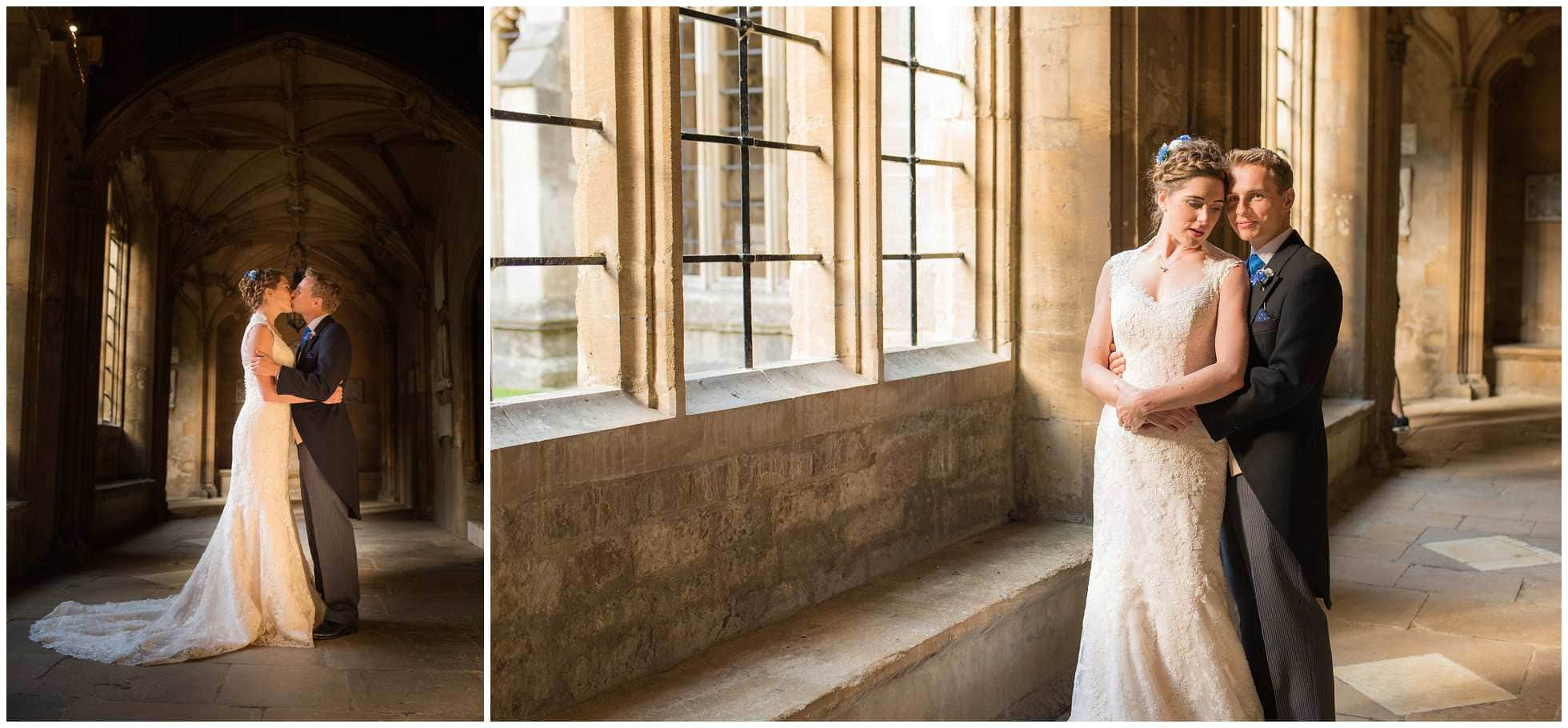 Wedding Photography in the cloisters of Christ Church college
