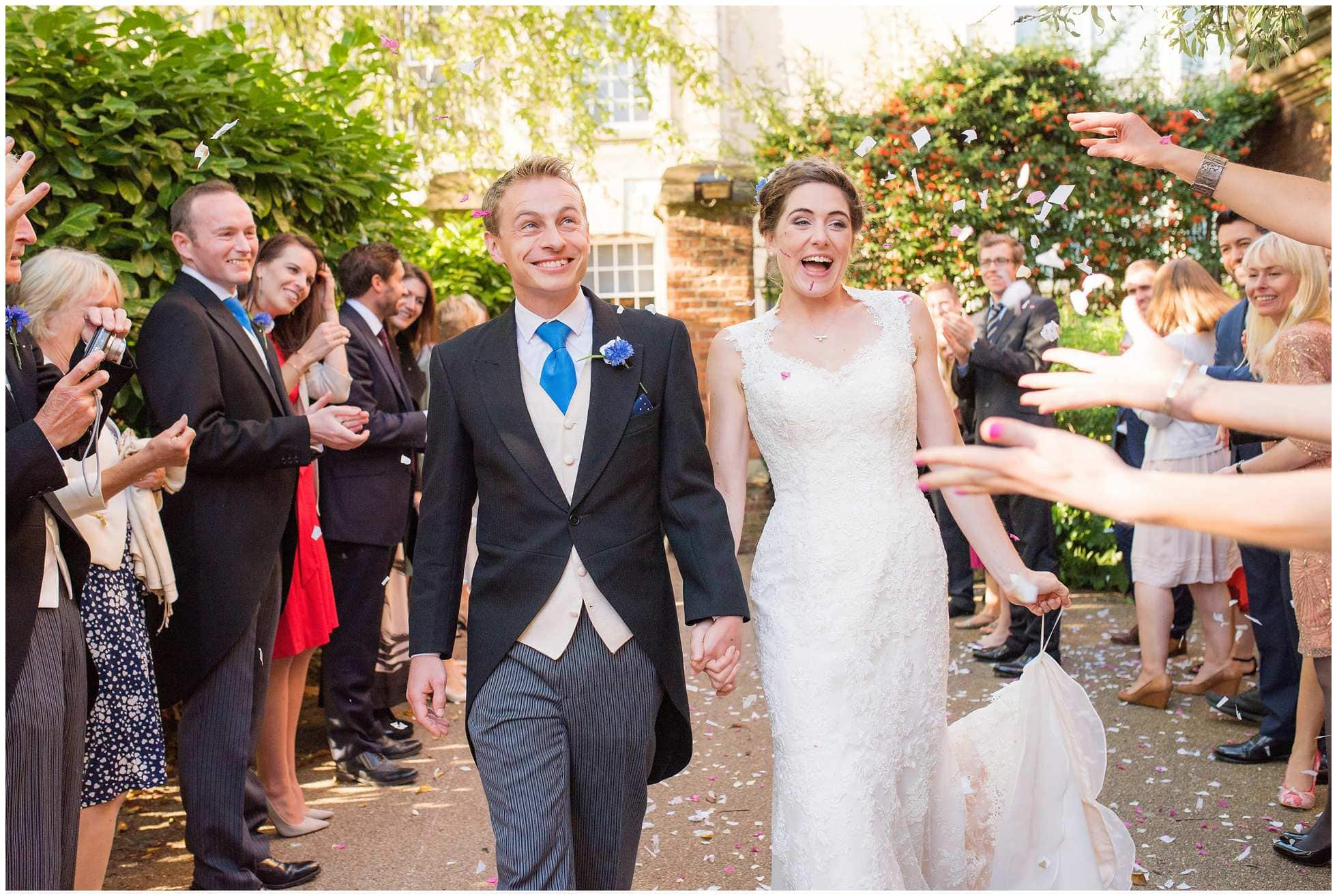 Confetti moment Oxford Union Wedding Photography
