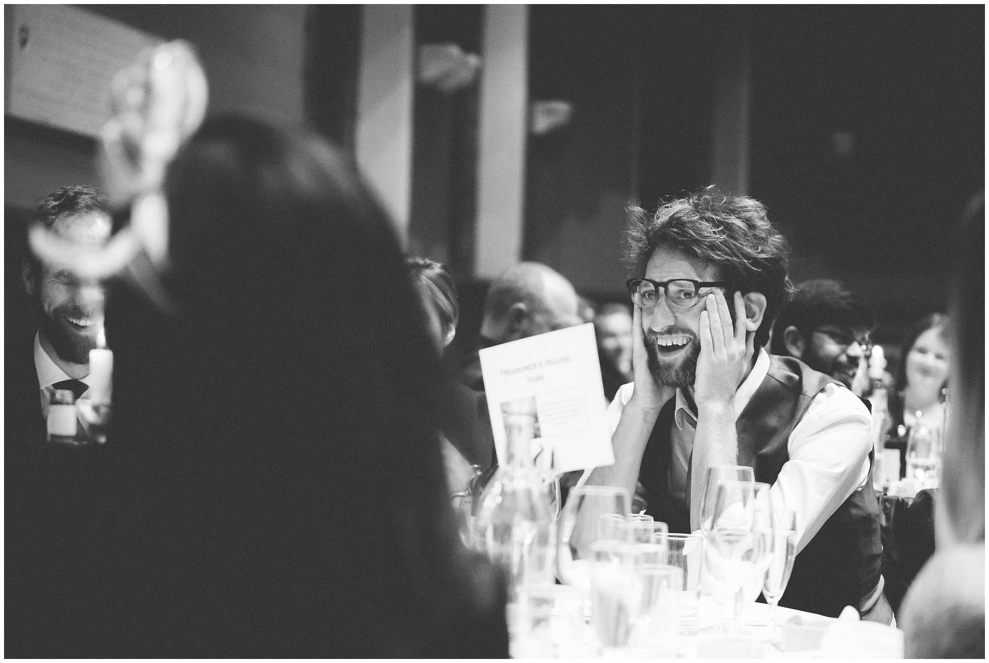 Oxford Union Wedding guest having a great time!
