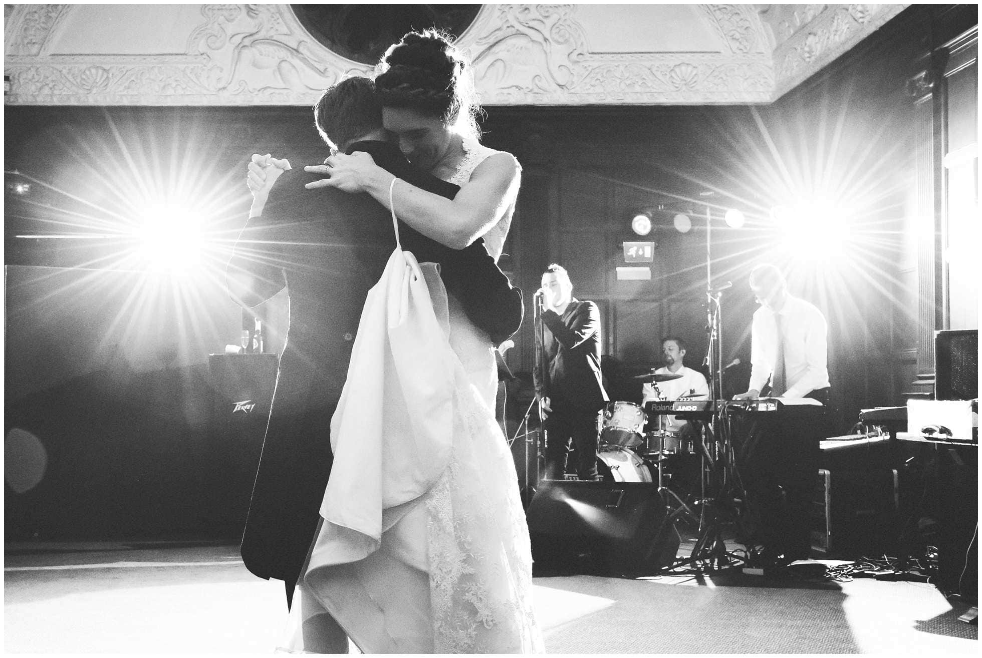 The first dance at Oxford Union Wedding