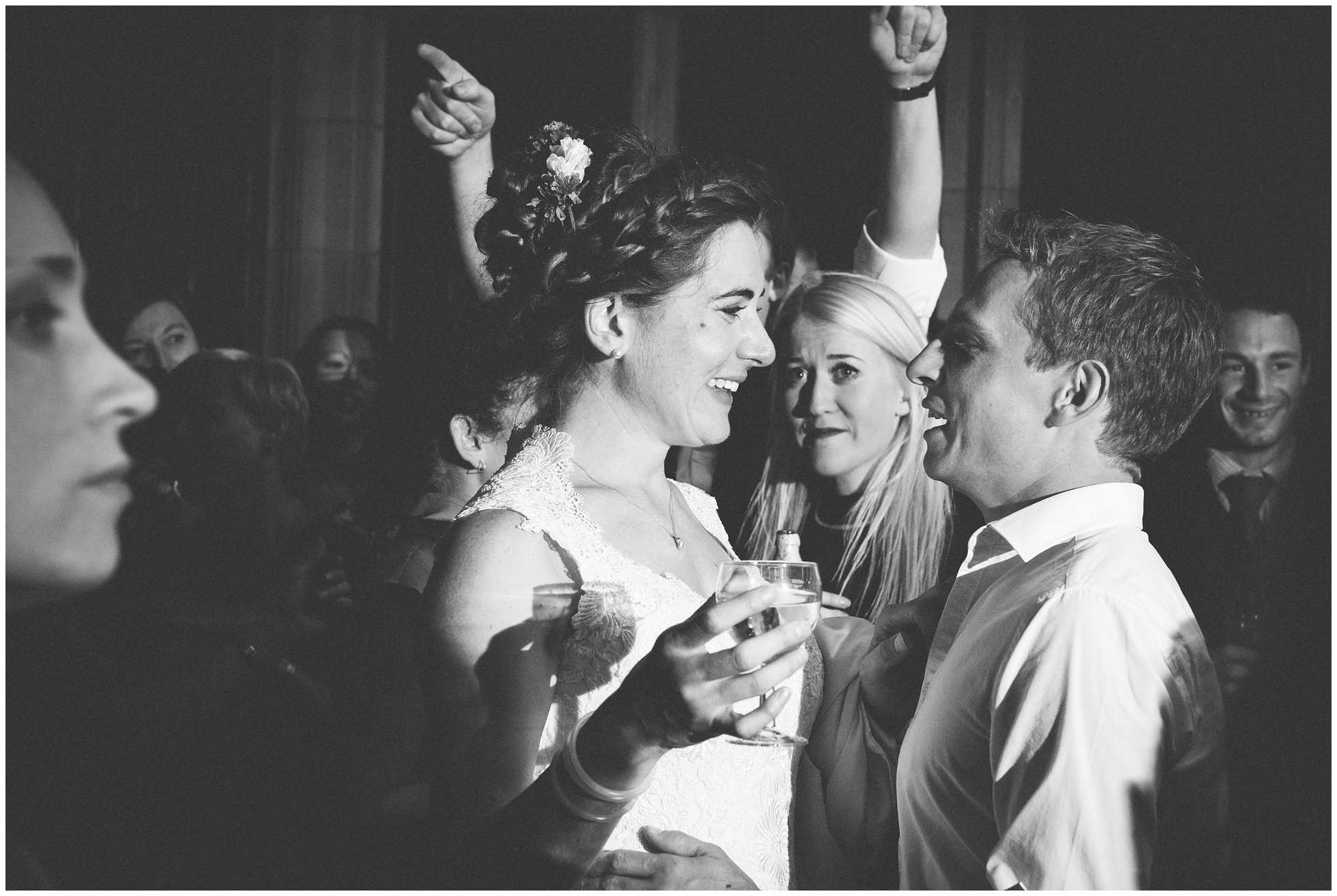 A proud bride and crying guest