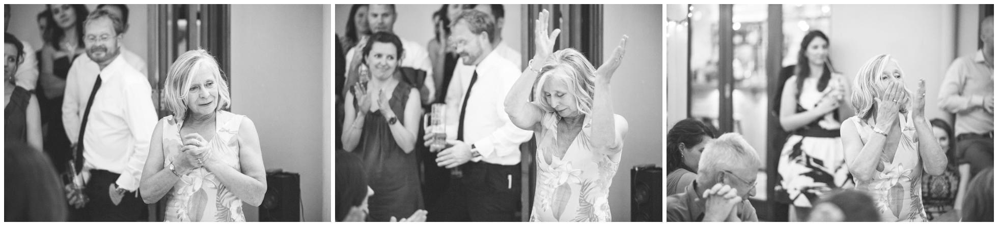 Emotional Mother of the bride giving her Sydney wedding speech